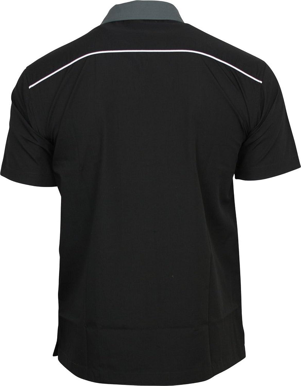 Relco hommes Gris Charbon & noir bowling chemise: Amazon.fr: Vêtements et  accessoires