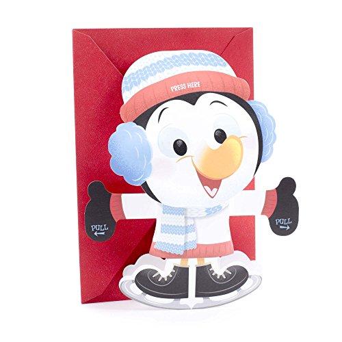 - Hallmark Displayable Christmas Card for Kid with Song (Penguin Plays Jingle Bells)
