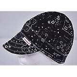 Comeaux Caps Reversible Welding Cap Black Bandana Size 7 1/8