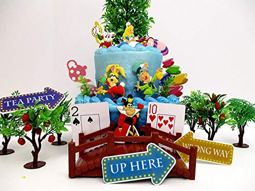 Alice in Wonderland Deluxe Landscaped Themed Birthday Cake T