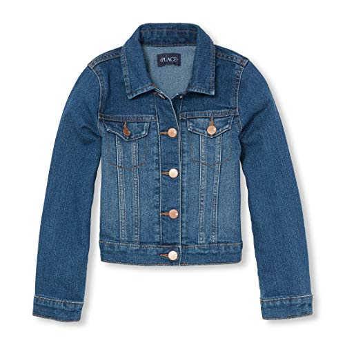The Children's Place Big Girls' Denim Jacket, AZUREWASH, M (7/8) (Leather Jacket Boys 8 20)