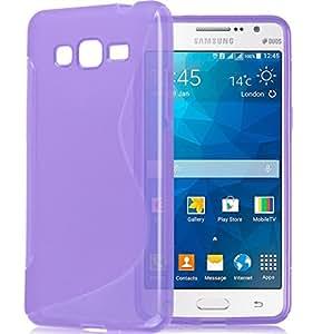 funda silicona TPU compatible Samsung A3 (2016) morada