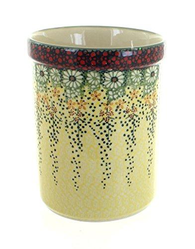Polish Pottery Sunshine Grotto Utensil Jar