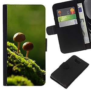 Stuss Case / Funda Carcasa PU de Cuero - Naturaleza Hermosa Forrest verde 8 - Samsung ALPHA G850