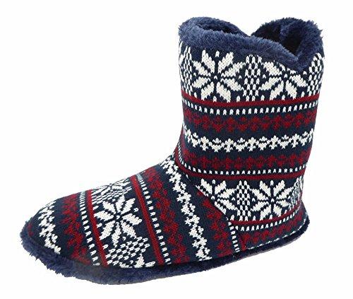 Uomo Dunlop Pantofole Boot Dunlop Navy Boot qp7IF