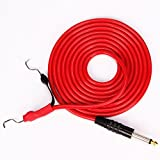 Tattoo Clip Cord New Silicone Material 2.4m 8' Feet Silica Gel Tattoo Power Line for Coil Tattoo Machine Gun Tube Rotary Tatoo Cord Red (Red)