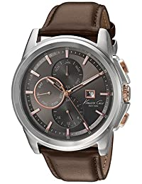 Kenneth Cole New York Men's 10025916 Dress Sport Analog Display Japanese Quartz Brown Watch