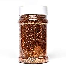 Glitterexpress Brillantina, Naranja, 250 g