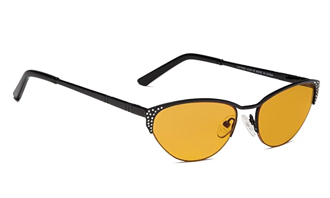 84a878a6b5b Amazon.com  Blue Blocking Computer Glasses-Cateye Style for Women ...
