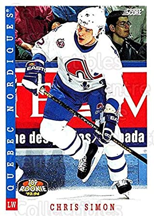 Amazon.com  (CI) Chris Simon Hockey Card 1993-94 Score Canadian ... 0210a4f0c