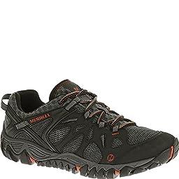 Merrell Men\'s All Out Blaze Aero Sport Hiking Water Shoe, Black/Red, 8 M US
