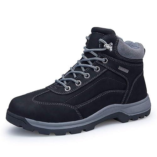 AZOOKEN Botas de Senderismo Zapatillas de Senderismo Trekking High Top Hombre (8058 BK40)