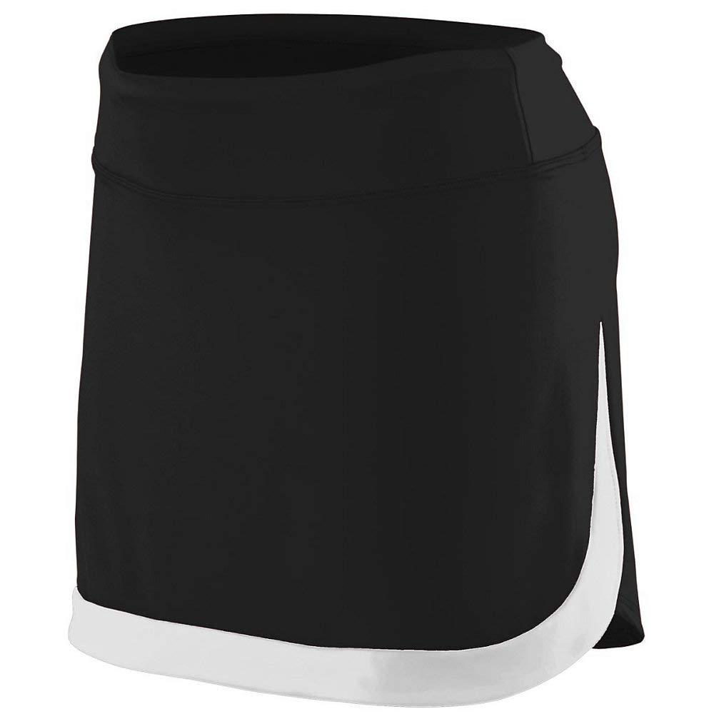 Augusta Sports Girls Medium Black/White Skort by Augusta Sports