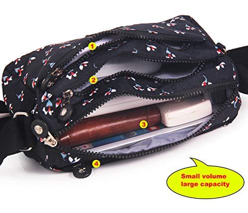 Tracolla A Donna black Impermeabile customized Borsa 3 Able Da xTnB5