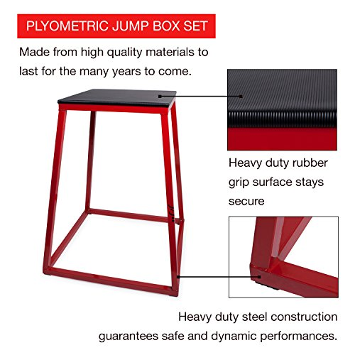 j/fit Plyo Box – Plyometric Platform and Jump Box for Training, CrossFit & Conditioning, 12″