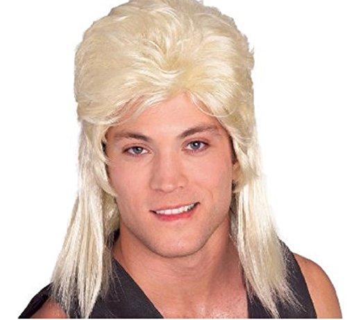 Best Joe Dirt Costume (Adult Blonde Shoulder Length 80's Mullet Wig)