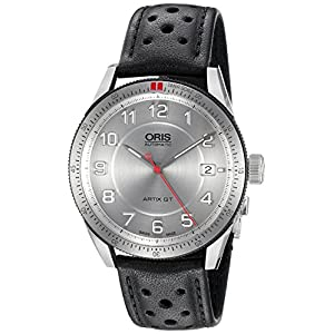 Oris Artix GT Automatic Stainless Steel Mens Strap Watch Calendar Silver Dial 733-7671-4461-LS 1