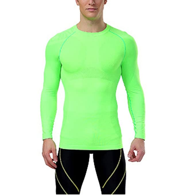 bc4d103c040 Image Unavailable. Image not available for. Colour  ROPALIA Men Sport  Athletic Top Compression Under Base Layer Long Sleeve T-Shirt