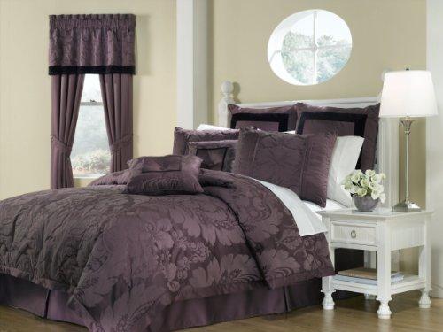 Royal Heritage Home Lorenzo Purple 8-Piece King Size Comf...