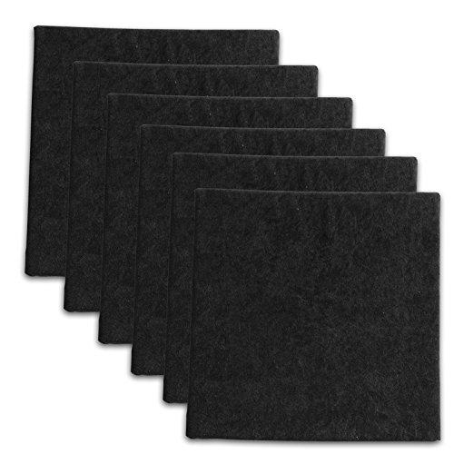 6 Pack - Black Velour Acoustic Panels Studio PopBoard Sound Rated Foam 1