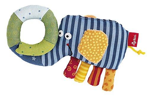 sigikid, Mädchen und Jungen, Greifling und Beißring Elefant, Mehrfarbig, 40514