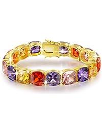 BRILLA Tennis Bracelet Fashion Jewelry with Multi Colored...