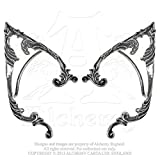 Womens Fashion Jewelry Wrap Earrings Gothic Pointed Elf Ear Victorian Swirl Left and Right Pair
