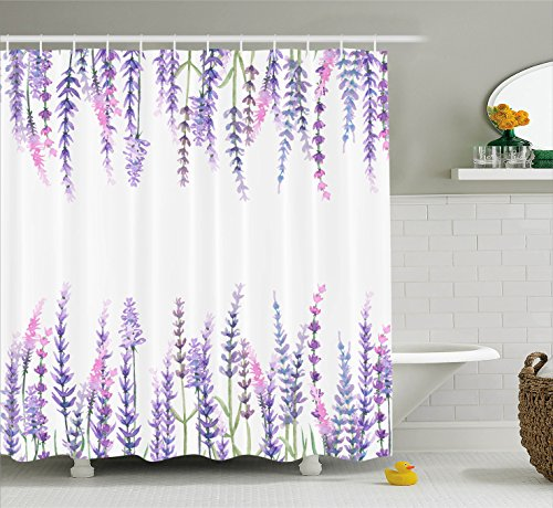 Ambesonne Collection Lavender Evergreen Polyester