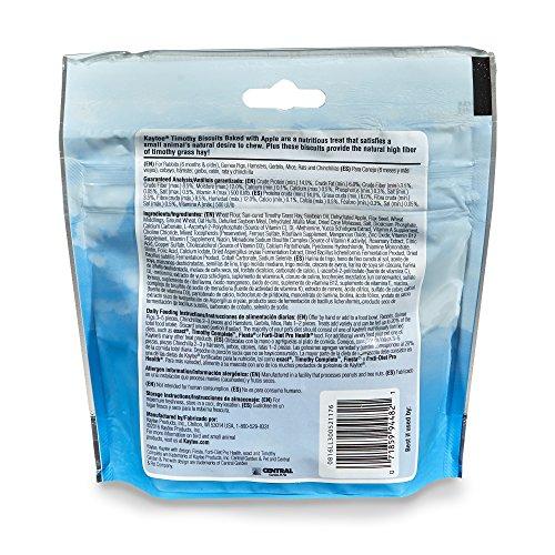 51rPjvkS0hL - Kaytee Timothy Biscuits Baked Apple Treat, 4oz bag