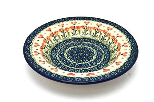 Polish Pottery Bowl - Soup/Pasta - Peach Spring Daisy