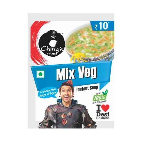 Ching's Secret Mix Veg Instant Soup-Pack of 20