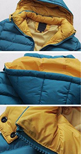 SODIAL(R) 2014 Hommes Chaud Capuche Manteau a Capuche Parka Manteau d'hiver Manteaux Doudoune Bleu XL
