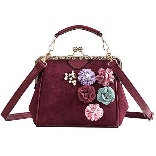 tracolla Kong nero Borsa Opmea donna moda moda piccola piccola a stile tracolla a Hong colore rosso Borsa zZwxqrZ5
