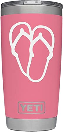 Flip Flops Heart Love Vinyl Decal Sticker For Home Cup Mug Glass Wall Decor