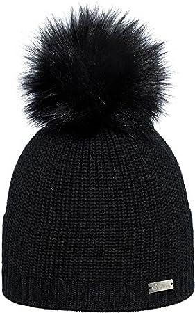 Eisglut Serina Femmes Tricot Bonnet Beanie Noir