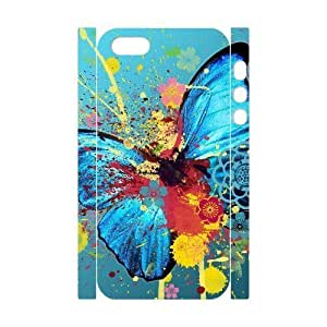 3D Bumper Plastic Customized Case Of Butterfly for iPhone 5,5S