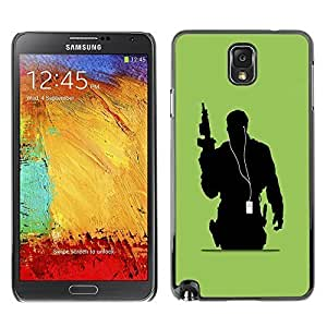 GagaDesign Phone Accessories: Hard Case Cover for Samsung Galaxy Note 3 - Music Soldier