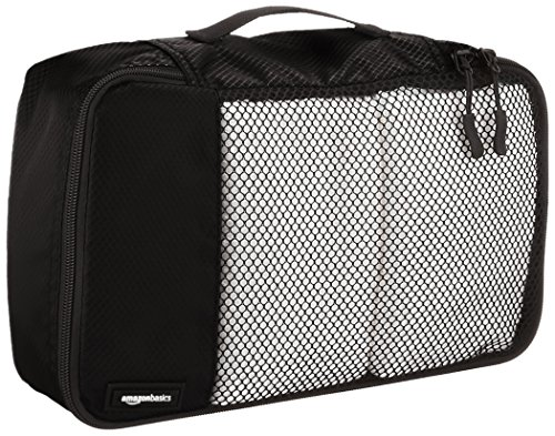 Amazon Basics 4 Piece Small Packing Travel Organizer Cubes Set 4 Double zipper pulls make opening/closing simple and fast Mesh top panel for easy identification of contents, and ventilation Soft mesh won't damage delicate fabrics