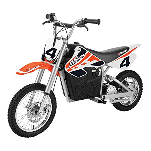 Razor MX650 Adult & Teen Dirt Rocket Ride On High-Torque Electric Motocross Motorcycle Dirt Bike, Speeds up to 17 MPH, Orange
