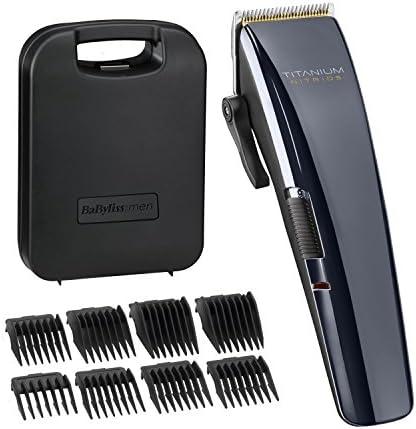 BaByliss Titanium Nitride - Cortadora de pelo para hombre: Amazon ...