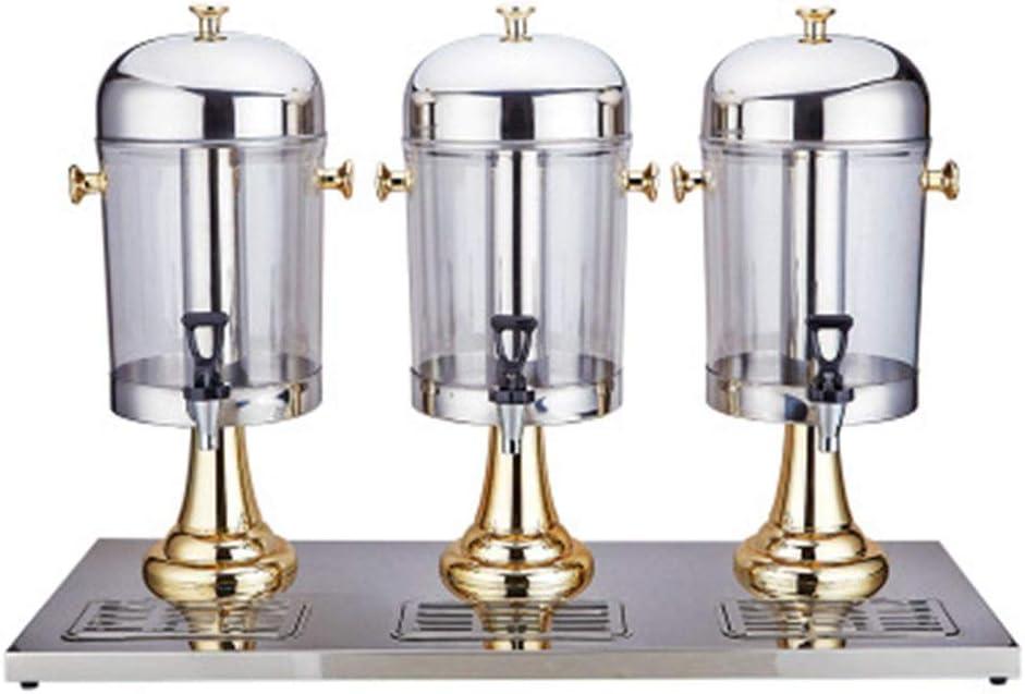 Dispensador de Bebidas Jugo Máquina Expendedora De Bebidas Máquina De Bebidas Tres Grifos De Auto-Servicio Comercial De Tiendas De Conveniencia 24L Jugo Ding (Color : Oro, tamaño : 86x34.5x58cm)