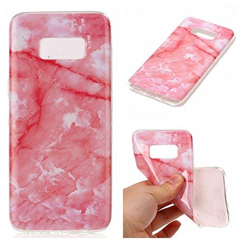 inShang funda para Samsung Galaxy S8 funda del teléfono móvil, anti deslizamiento, ultra delgado y ligero, Estuche, Cubierta, carcasa suave hecho en el material de la TPU, cómodo Case Cover for Galaxy Deep pink