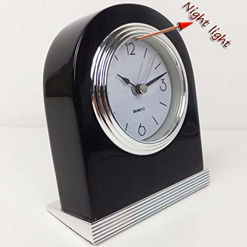 Best-mall Creative Quality MirageBlack Anti-radiation Guest Room Bedside Silent Wood Alarm Clock With Nightlight-Just Take It Up,The Nightlight Will Be On-Black