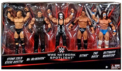 WWE Basic Series, WWE Network Spotlight Exclusive 5-Pack [Stone Cold, Mr. McMahon, Sting, The Rock, and Ultimate Warrior] by WWE