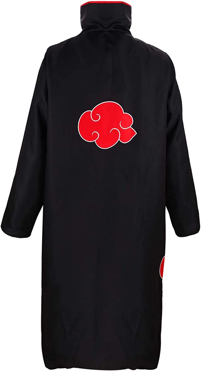 YBcos Akatsuki Cosplay Cloak Robe Unisex Orochimaru Uchiha Madara Sasuke Itachi Costumes Headband and Plastic Star.