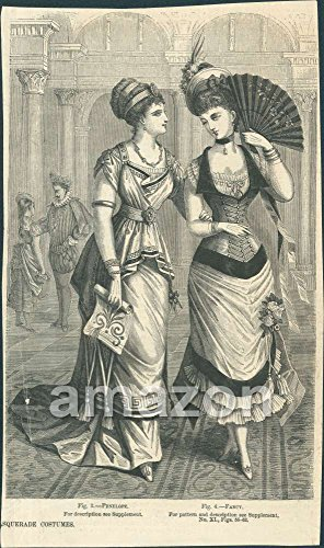 Antique Print Masquerade Costumes Penelope and Fancy (AJY-054) (Penelope Movie Costumes)