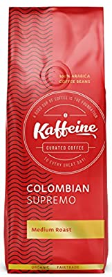 Kaffeine Koffee Organic Colombian Supremo Medium Roast Ground Coffee