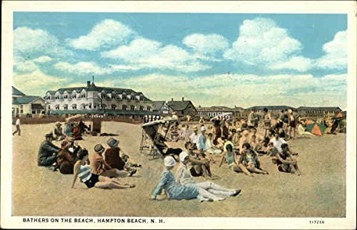 Bathers on the Beach Hampton Beach, New Hampshire Original Vintage Postcard