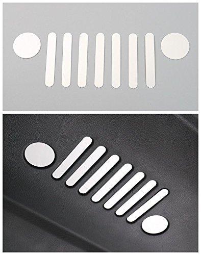 Auto Portellone Porta Interna Logo Marchio Adesivi Decorativi Alluminio Argento 1Pc