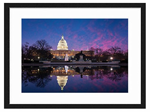 Tcrying Lighting Palace - Art Print Wall Black Wood Grain Wall Art Picture 20x14 Inches Framed price